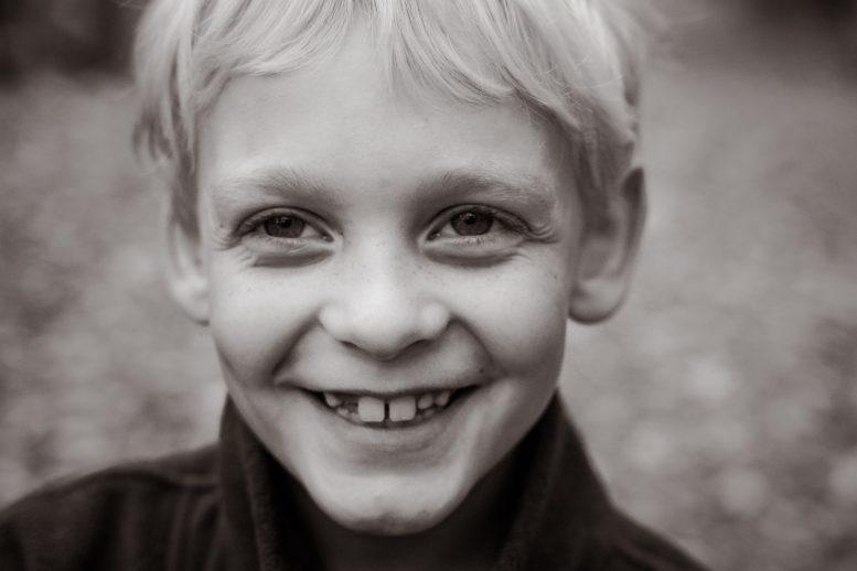 Close up portrait of smiling boy